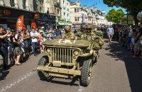 Anniversary march in Carentan