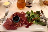 Ham plate in Normandy