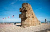 The Signal Monument on Omaha Beach